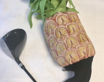 Custom made golf headcover Pineapple