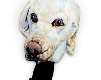 Labrador Retriever GOLF club headcover ,Custom Dog portrait , golf apparel , Father's day golf gift , GOLF GIFT