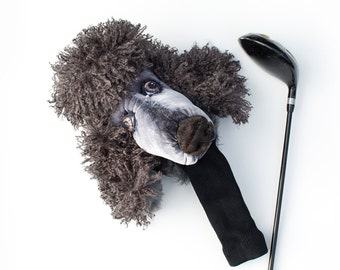 GOLF club headcover , Standard  Poodle Dog , Custom made golf accessories , GOLF GIFT