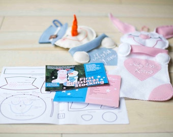 Baby FIRST Christmas Stocking -Sewing PATTERN Booklet -How to Make your own ,DIY - for baby Boy and Baby Girl