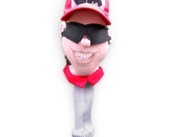 GOLF club  headcover ,Custom portrait , golf accessories ,golfer gift , Fathers day  golf gift , GOLF GIFT