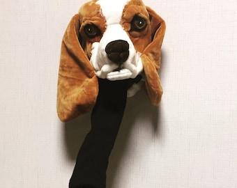 GOLF club head cover , Beagle  , Custom Dog portrait , GOLF GIFT