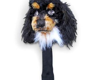 GOLF club  head cover ,Custom Dog portrait Cavalier King Charles spaniel , golf accessories ,golfer gif , GOLF GIFT
