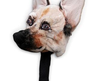 GOLF club  head cover ,Custom Dog portrait German Shepherd   , golf accessories ,golfer gift , Fathers day golf gift , GOLF GIFT