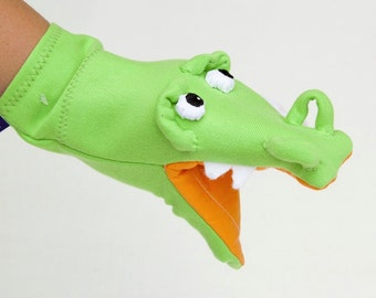 CROCODILE -Hand puppet ,great for action songs SNAP