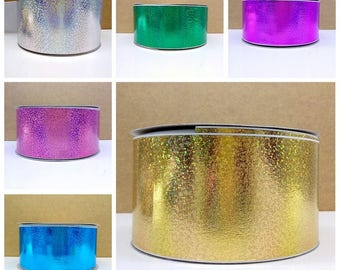 Holographic Grosgrain Ribbon By The Yard