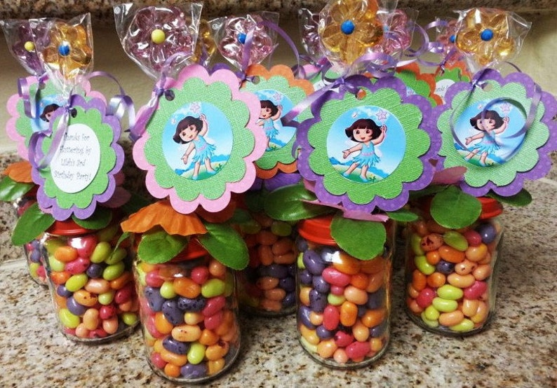 Dora Fairy Party Favors Baby Food Jar Party Favors Birthday Party Baby Shower Dora Favors Dora Candy
