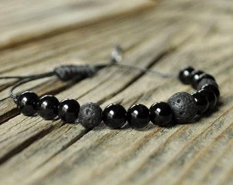 Black Tourmaline Bracelet, Diffuser Bracelet, Beaded Diffuser, Essential Oil Diffuser Bracelet, Yoga Bracelet, Meditation Bracelet, Healing