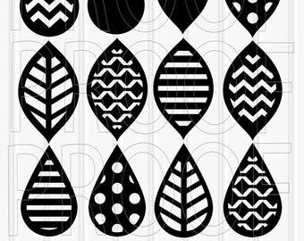 SVG Files set of 12 cutting files SVG/PNG/jpg Teardrop svg tear drop svg leaf svg commercial use approved! silhouette