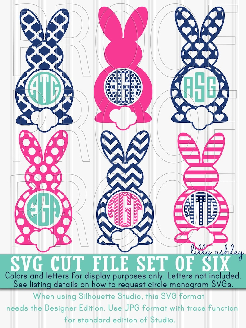 Easter SVG Files Set of 6 cutting files SVG/PNG/jpg formats image 0