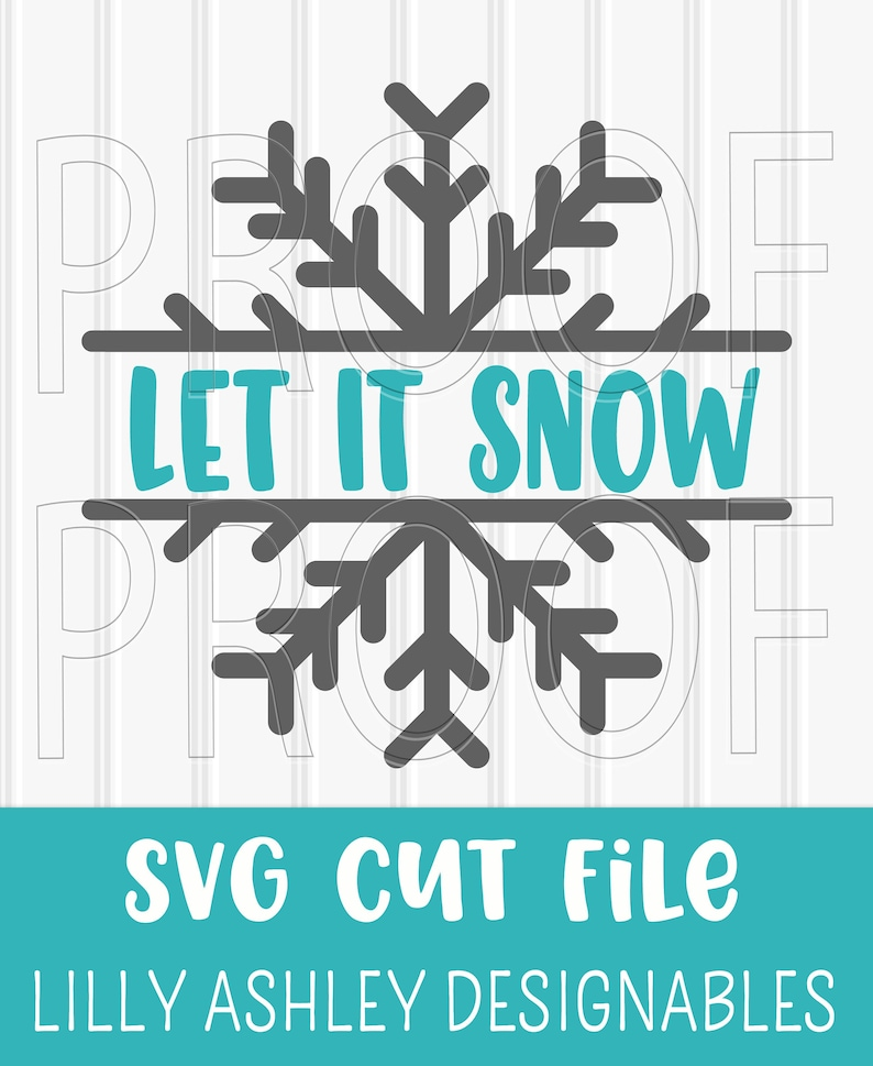 Snowflake SVG Cut File svg/png formats Split snowflake design image 0