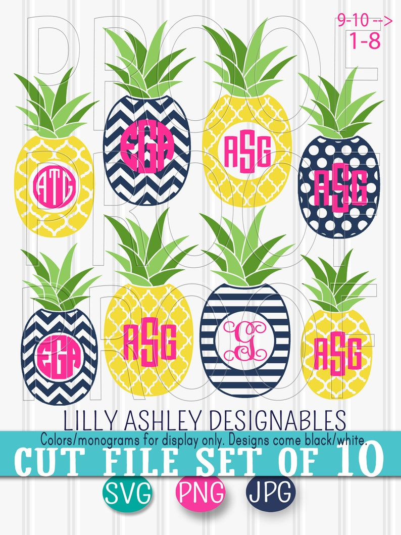 Download Monogram SVG Files Pineapple SVG Set includes 10 cut files ...