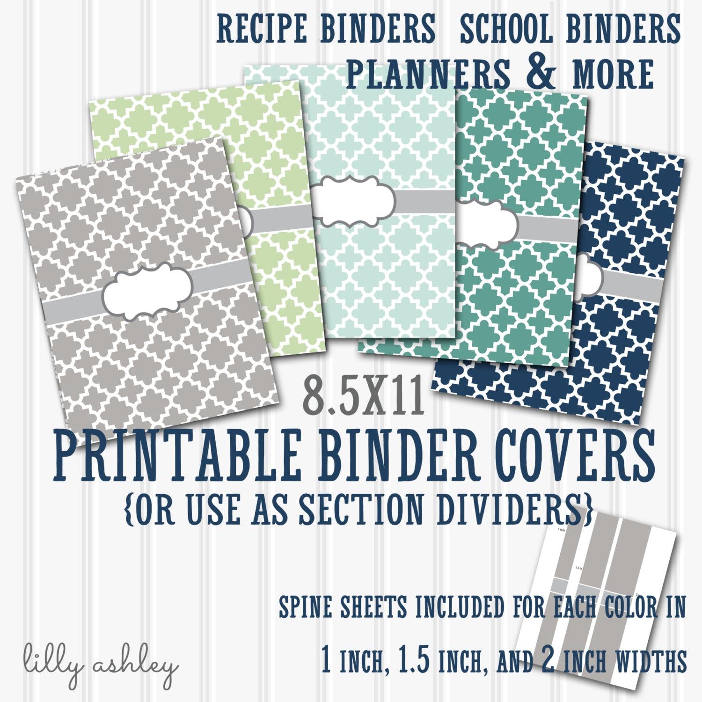 Binder Cover Printables SET 8.5X11-JPG Format not | Etsy
