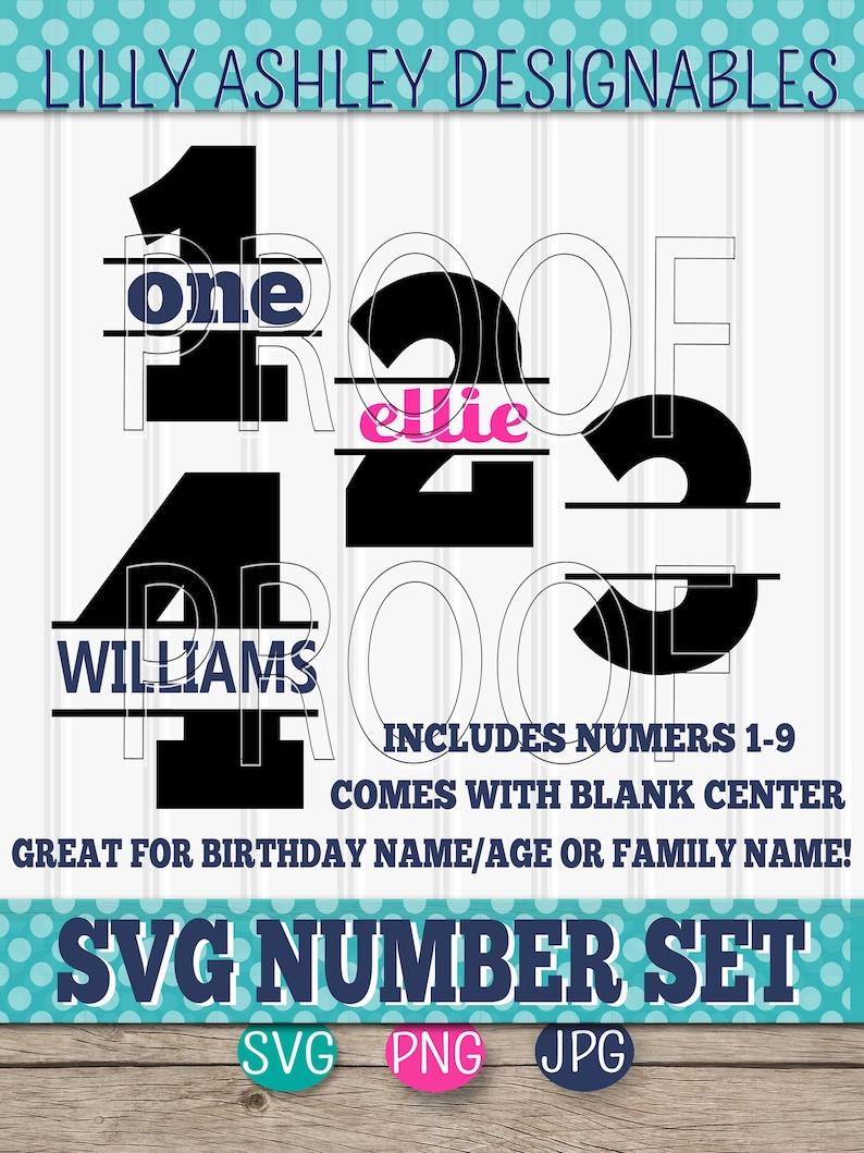 Number SVG Set of 9Includes 1 through 9 SVG PNG & jpg image 0