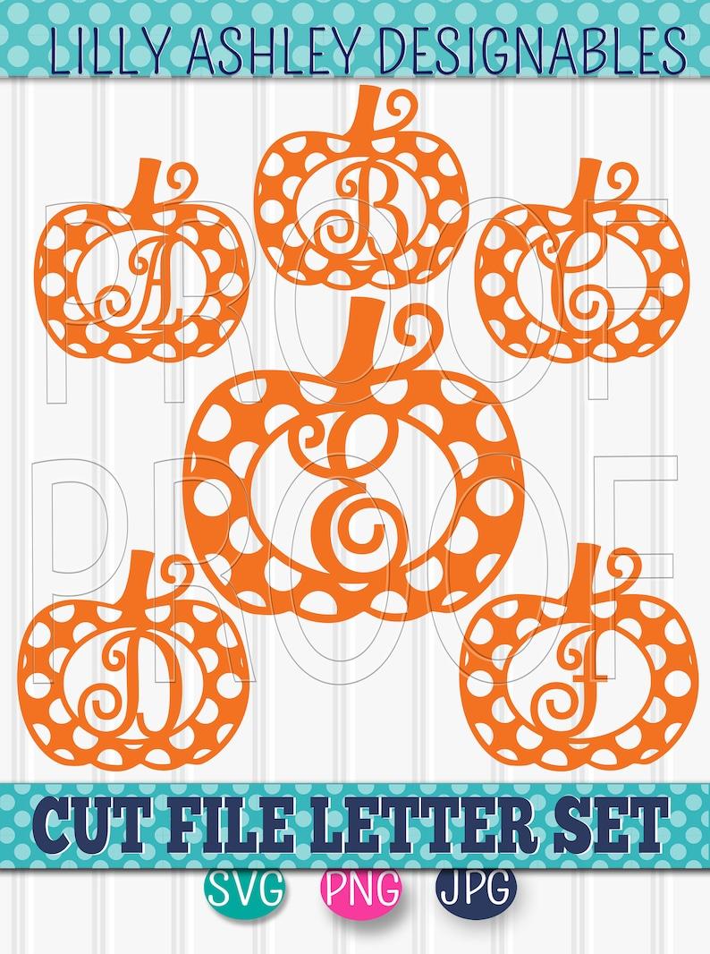 Pumpkin SVG Letter File Set of 27 cut files dots pumpkin image 0
