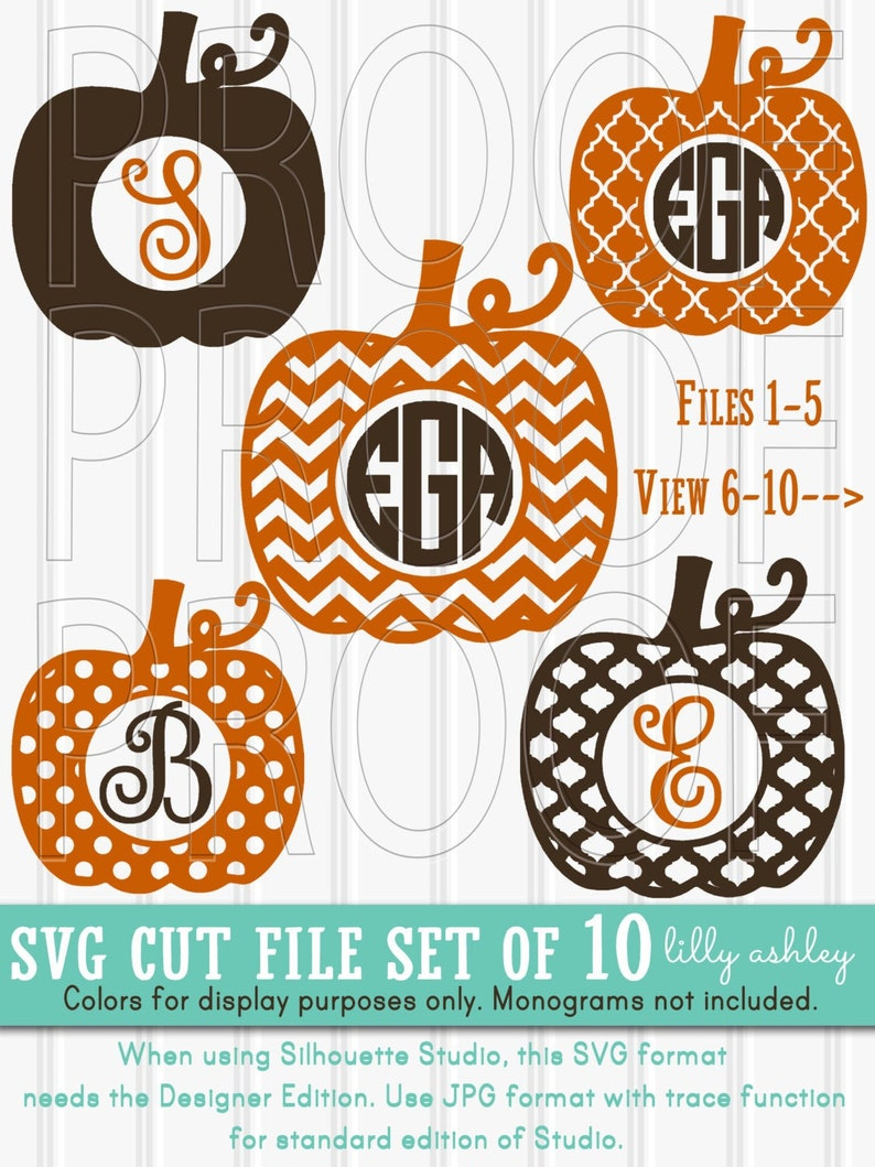 Monogram SVG Files Set of 10 cutting files includes image 0