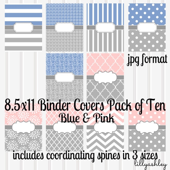 downloadable binder covers set of 10 8 5x11 jpg not etsy