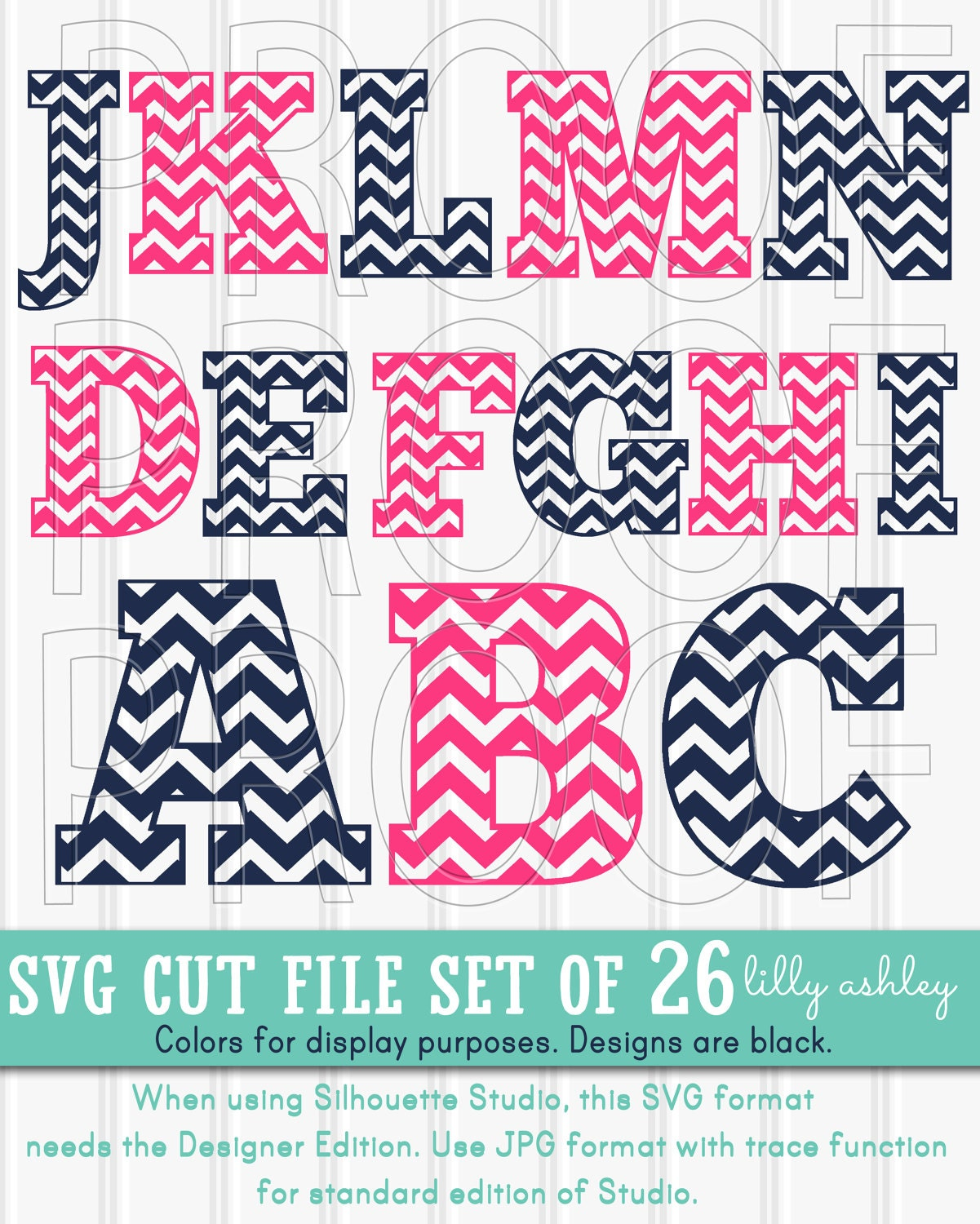 SVG Files set UppercaseIncludes A through Z SVG PNG & jpg | Etsy