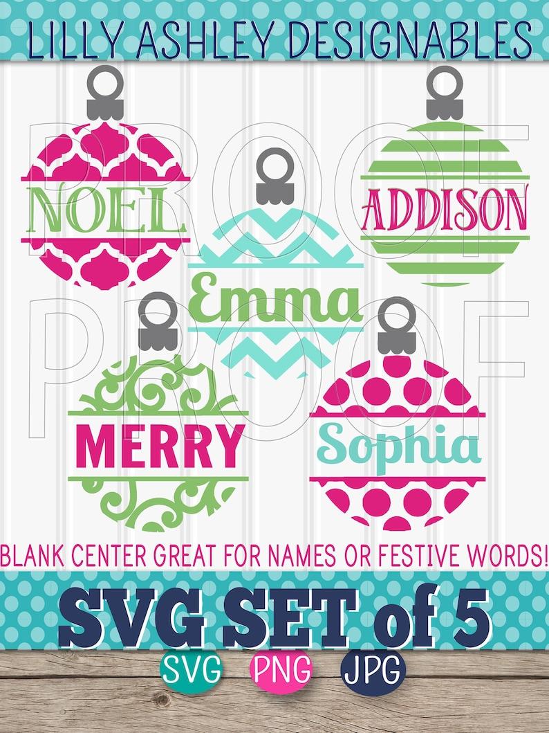 Ornament SVG Files Set of 5 cut files svg/png/jpg formats image 0