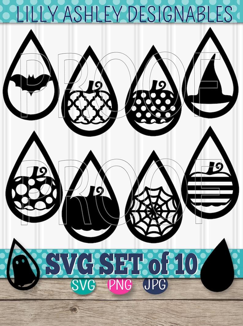 Teardrop SVG Files set of 10 cutting files SVG/PNG/jpg image 0