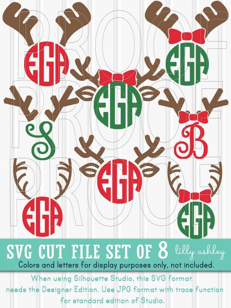 Monogram SVG File Set of 8 cut files includes svg/png/jpg image 0