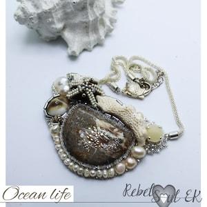 Donut Pendant silver gold Donut Necklace rebelsoulek Long Pendant Crystal Donut Pendant beach jewelry Beaded sparkling pendant
