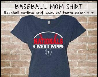 396e578c0d5 Items similar to Baseball mom shirts