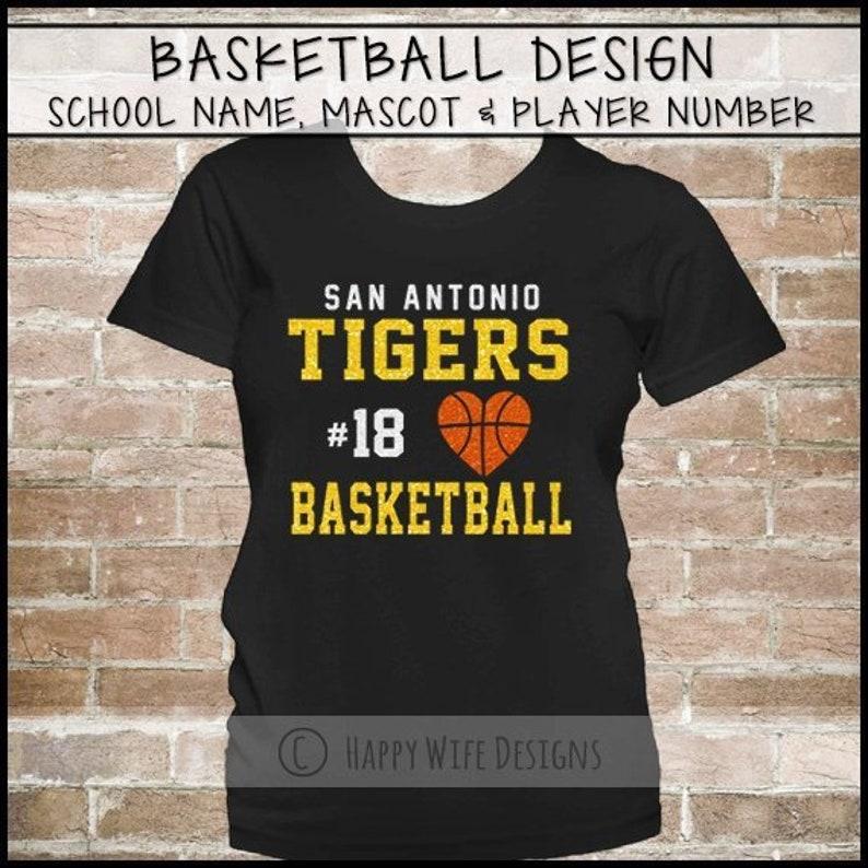 a7283d63a72 Custom Basketball Mom Shirt Basketball Shirt Glitter | Etsy