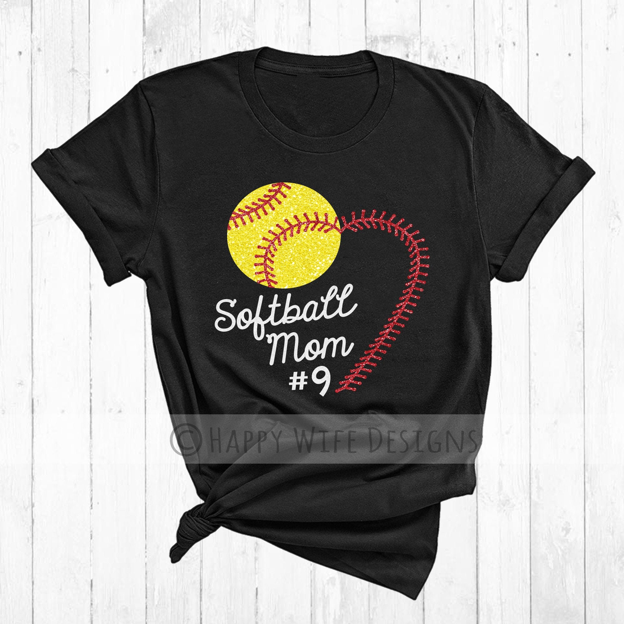 Softball Mom Tank Heart Laces With Player Number Design Etsy