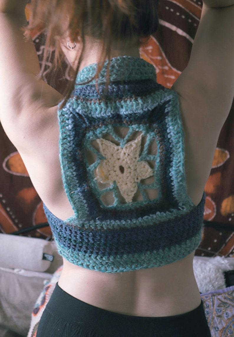 Star Mandala Vest Waistcoat  Hippie  Crochet  Festival  Bra