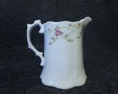 Ceramic Syrup Pitcher or Creamer - Nice Farm House Breakfast Nook Table Item 100 Crazing Pattern Throughout
