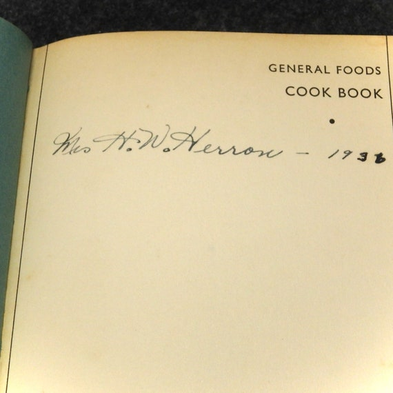 General Foods Cook Book 4th Edition 1935 Copyright 1932 Hardcover