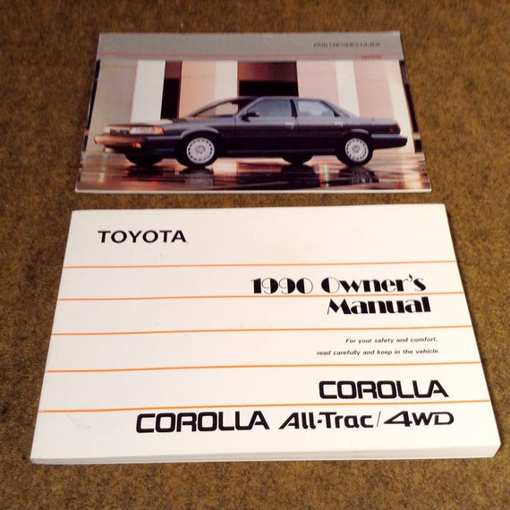 1990 toyota corolla owners manual and owner s guide each rh etsy com 1990 toyota corolla owners manual pdf 1993 Toyota Corolla