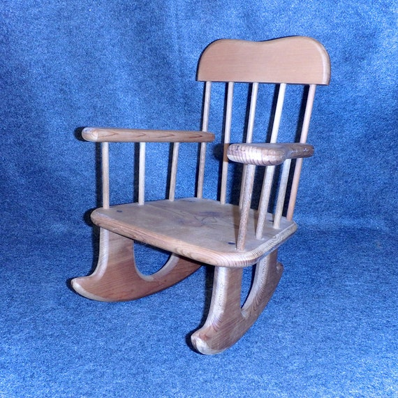 Remarkable Small Wood Rocking Chair Young Child Or Doll Size Vintage Sturdy Well Made Lamtechconsult Wood Chair Design Ideas Lamtechconsultcom