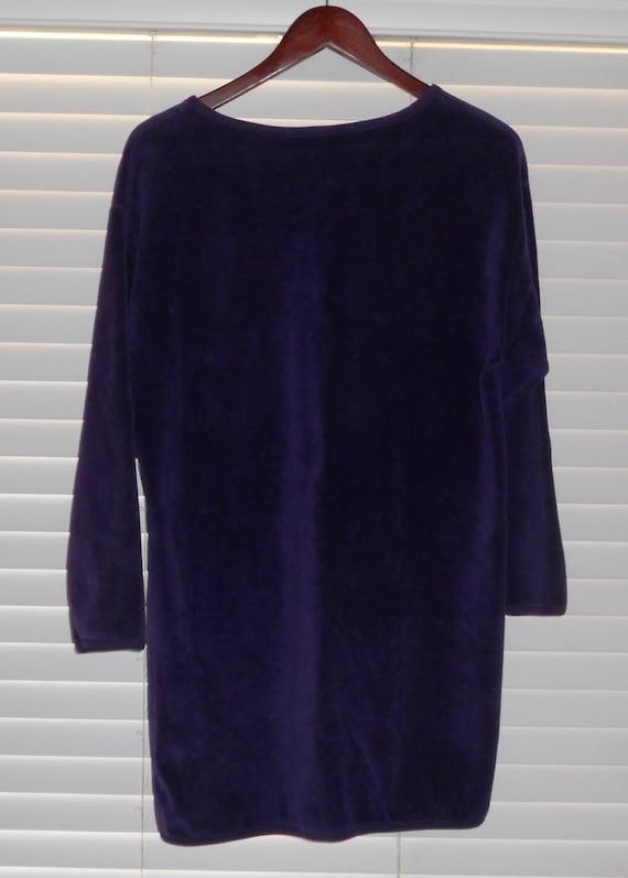 Vintage I. Magnin Purple Plush Pullover - image 3