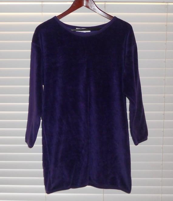 Vintage I. Magnin Purple Plush Pullover - image 1