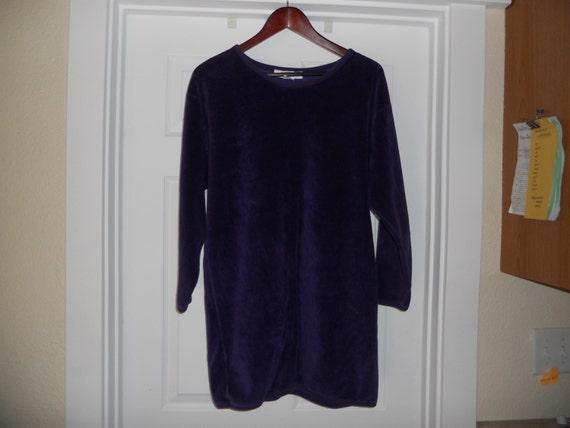 Vintage I. Magnin Purple Plush Pullover - image 2