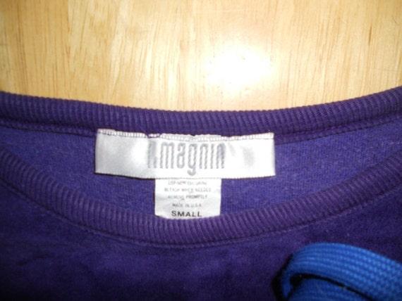 Vintage I. Magnin Purple Plush Pullover - image 4