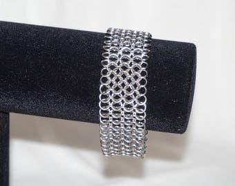 European 4 in 1 sheet bracelet, stainless steel.
