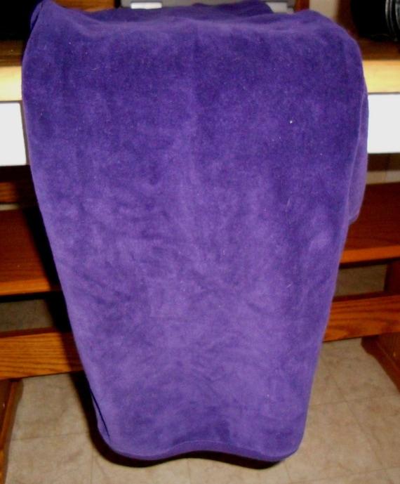 Vintage I. Magnin Purple Plush Pullover - image 5