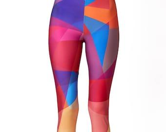 Leggings / Printed leggings / Yoga Pants /  Leggings for Women/ Geometric Leggings / Colorful Leggings / Workout Leggings / Yoga Clothes