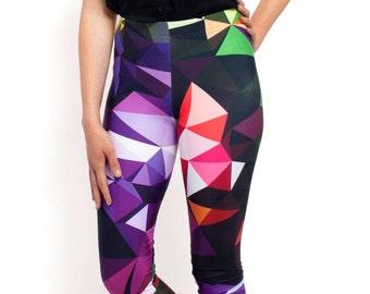 LEGGINGS - Leggings Yoga  / Yoga Leggings / Printed Leggings / Geometric / Print Leggings / Womens Leggings / Workout Leggings
