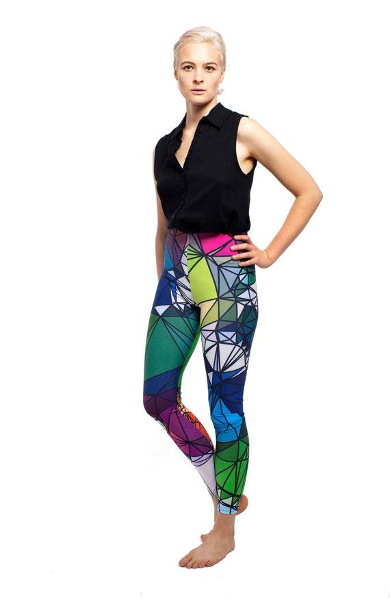 Strings of the Heart Art Leggings - Art Leggings, yoga leggings, digital print leggings, boho leggings, sublimation leggings