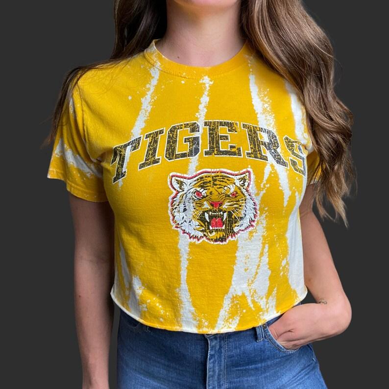 Tigers Crop Top College T-Shirt
