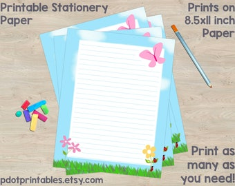 printable stationery etsy