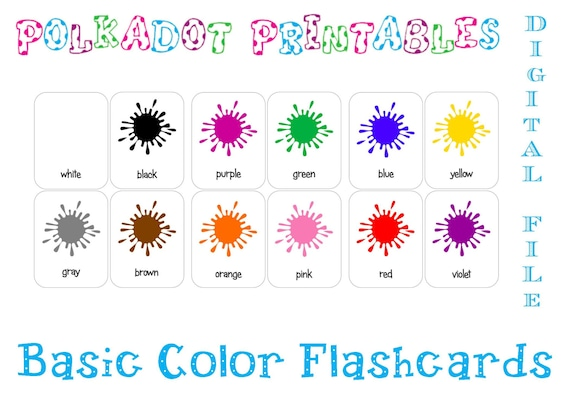 graphic relating to Color Flashcards Printable identify Printable Simple Shade Paint Splash Flashcards - Mounted of 12 - Instantaneous Obtain - PDF