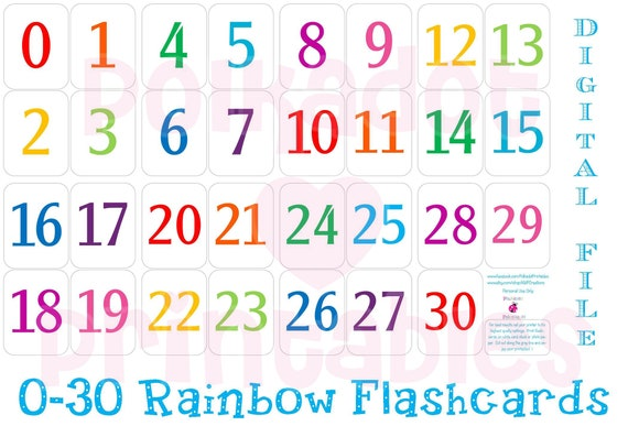 graphic regarding Number Flashcards Printable identified as Printable 0 - 30 Amount Flashcards - Instantaneous Down load - Preschool Flashcards