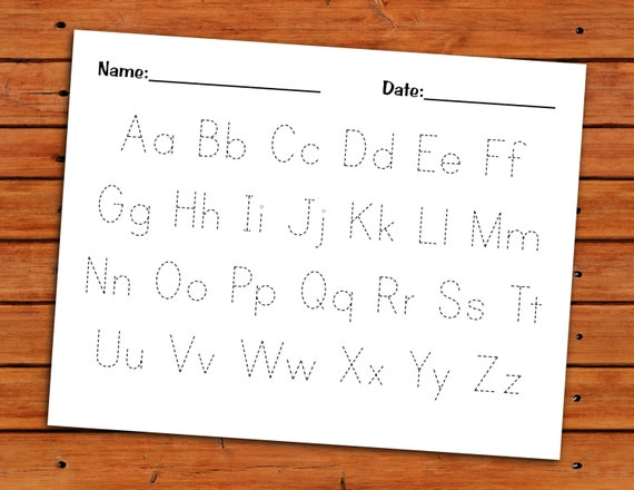 Alphabet Trace Worksheet PDF Printable