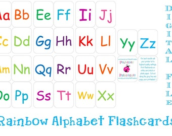 Printable Alphabet Flashcards - Instant Download