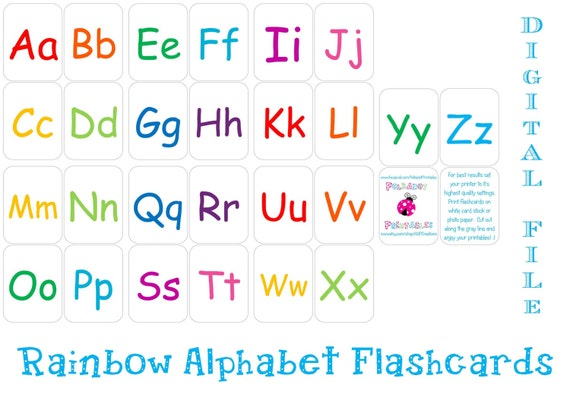 image regarding Printable Alphabet Flash Cards titled Printable Alphabet Flashcards - Instantaneous Down load by means of Polkadot
